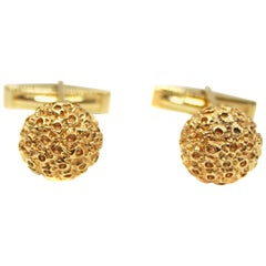 1970s Gold Domed Cufflinks