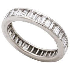 Diamond Baguette and Platinum Band