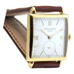 Patek Philippe 1432J Yellow Gold Vintage Square Art Deco Watch, circa 1944