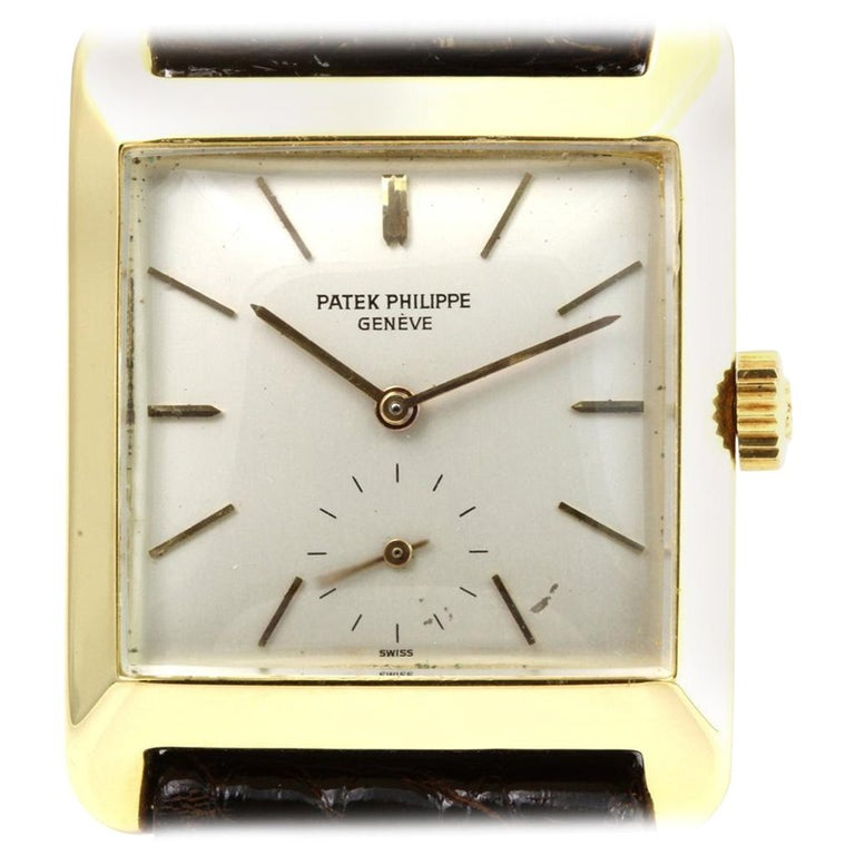 Patek Philippe 2488J Vintage Square Manual Wind Watch, circa 1954 For Sale
