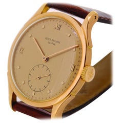 Patek Philippe 1589R Rose Gold Jumbo Calatrava Watch, circa 1954