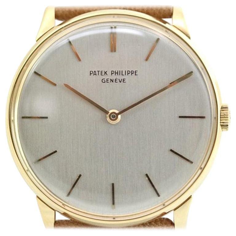 Patek Philippe 2573-1J Vintage Calatrava Watch, circa 1965 For Sale