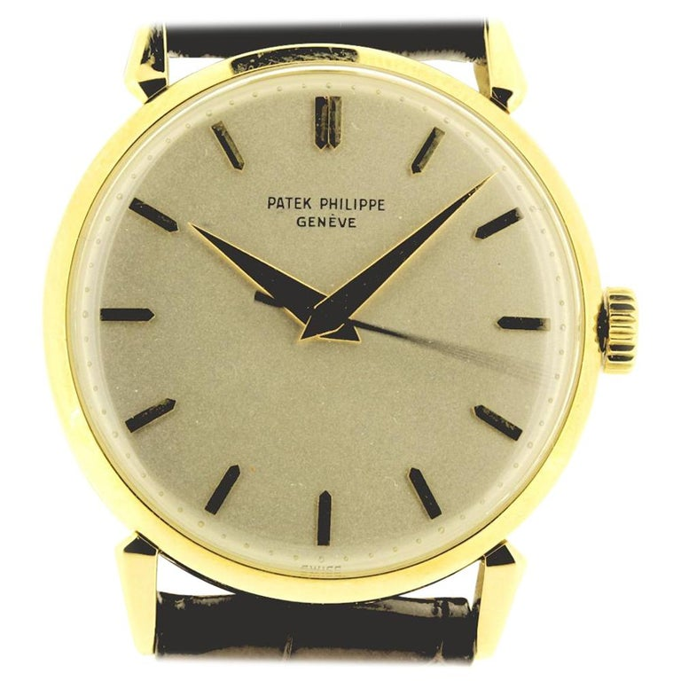 Patek Philippe 1578J Large Vintage Calatrava Watch, circa 1955 For Sale