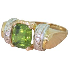Art Nouveau 1.97 Carat Demantoid Garnet Solitaire Ring