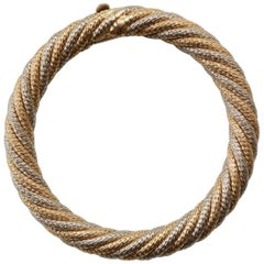 Georges Lenfant Bi-Color Gold Braided Bangle