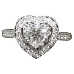 1.40 Carat Heart Shape Diamond in Halo
