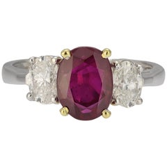 Three-Stone Ruby Ring