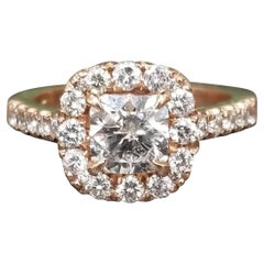 .97 Carat Radiant Diamond in Halo Ring