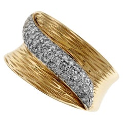 Yellow and White Gold Diamond Band Ring