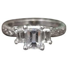 3-Stone Emerald Cut Ring 1.31 Carat TW