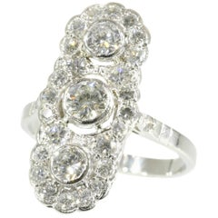 Art Deco Engagement Ring Platinum and Diamonds '1.78 Carat'