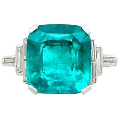 Certified 5.00 Carat Colombian Emerald Cocktail Ring