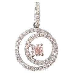 Diamond and 18 Karat White Gold Eternity Pendant