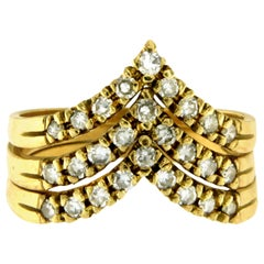 Gold Diamond Stackable Rings