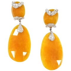 Agate Deco Drop Earrings