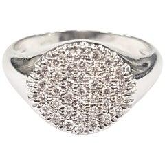 Lady's Diamond Pavé Pinky Ring