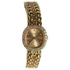 Patek Philippe Vintage 18 Karat Yellow Gold with Diamonds Ladies Watch