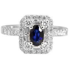 1,4 Karat Saphir und Diamant 18 Karat Gold Cocktail-Ring