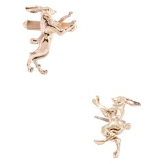 Boxing Hares Cufflinks in Solid 9 Karat Gold