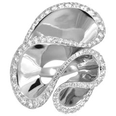 2.42 Carat Diamond 18 Karat White Gold Fashionable Cocktail Ring