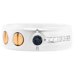 0.14 Carat Blue Diamond Men's Ring