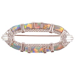 Opal 4.65 Carat Diamond Brooch