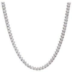 8.52 Carat Diamond Tennis Necklace
