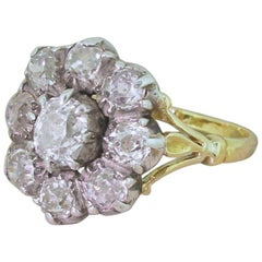 Victorian 2.00 Carat Old Cut Diamond Cluster Ring, circa 1870