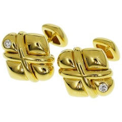 Concord Diamond 18 Karat Yellow Gold Cufflinks