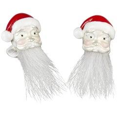 Deakin & Francis Sterling Silver Hairy Santa Cufflinks