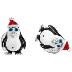 Deakin & Francis Sterling Silver Christmas Penguin Cufflinks
