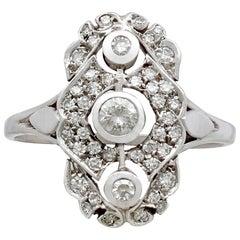 1940s Italian Diamond and White Gold Dress Ring