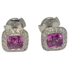 Tiffany & Co. Legacy Platinum Pink Sapphire and Diamond Earrings
