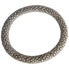Diamond White Gold Flexible Bracelet