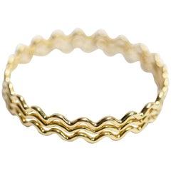 Tiffany & Co. Paloma Picasso 18 Karat Yellow Gold 3-Bangle Set