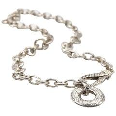 John Hardy Sterling Silver Interlocked Link Design Necklace