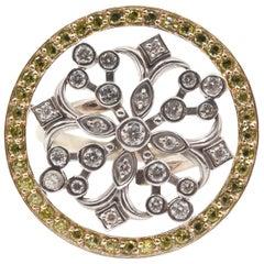 14 Karat White and Yellow Diamond Ring
