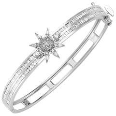 Bee Goddess White Gold and Diamond Venus Star Bracelet