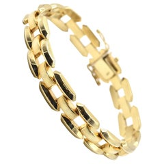 14 Karat Yellow Gold Square Link Bracelet