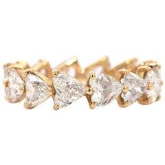 18 Karat Heart Shape Diamond Ring