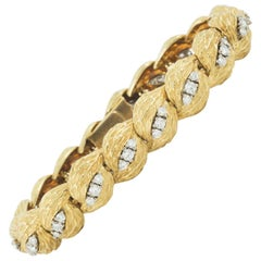 Bracelet 18 Karat Gold and Diamond Maker Georland of Paris, circa 1965