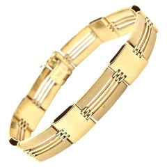 14 Karat Yellow Gold Custom Fancy Bracelet