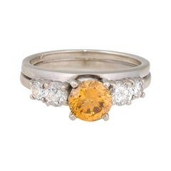 GIA Certified 1.00 Carat Champagne Engagement Ring