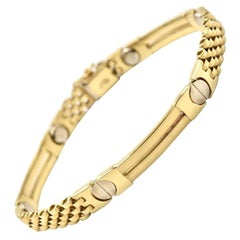 14 Karat Yellow Gold Custom Fancy Link Bracelet