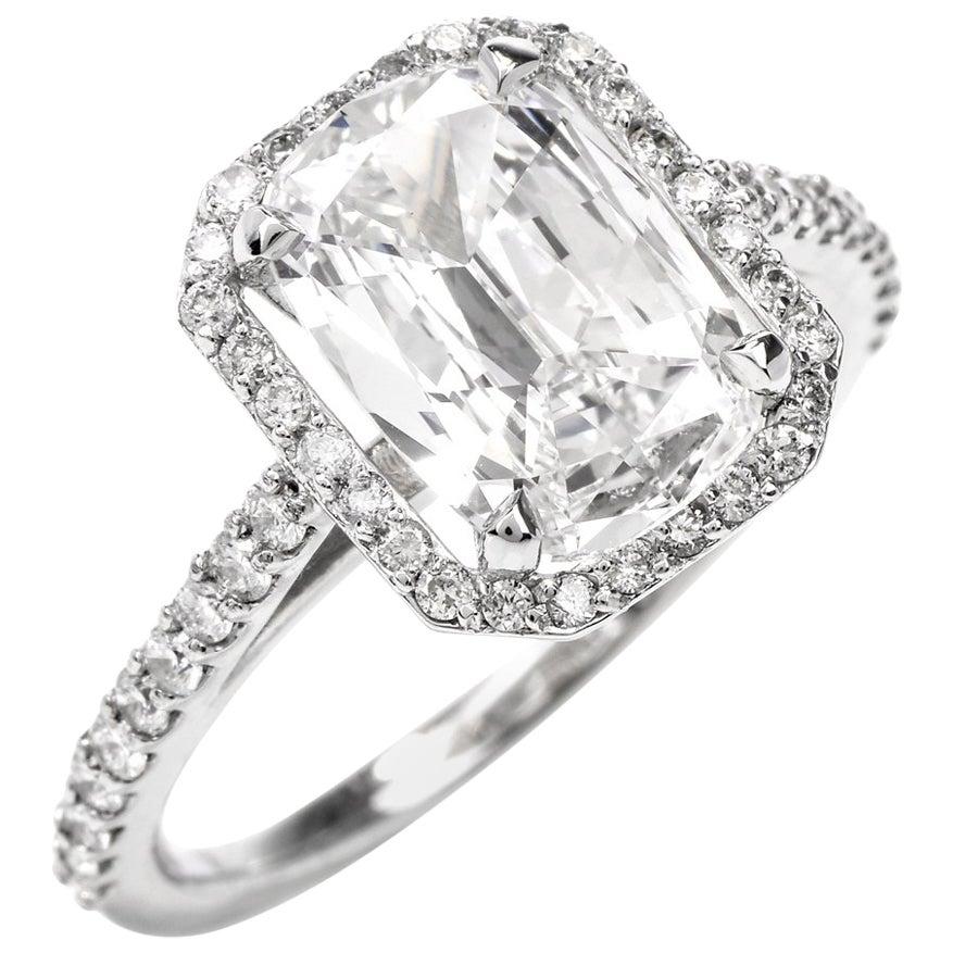 Cushion Diamond GIA F-VVS2 Platinum Engagement Ring