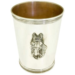 1950s Sterling Silver Benjamin Trees Horse Mint Julep Cup No Monogram Kentucky