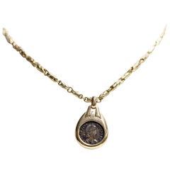 Bulgari Roman Empire Ancient Coin Necklace 18 Karat Yellow Gold