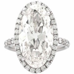 GIA Certified 8.38 Carat Oval Shape Diamond Ring