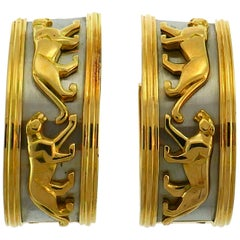 Cartier Panthere Gold Hoop Earrings