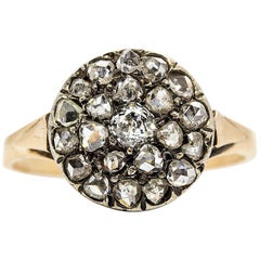 Victorian 18 Karat Gold Rose cut Diamonds Ring